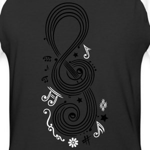 Big Clef with music notes - Baseball T-Shirt