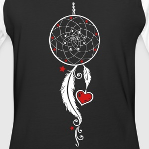 Dreamcatcher with heart and feathers, girlie style - Baseball T-Shirt