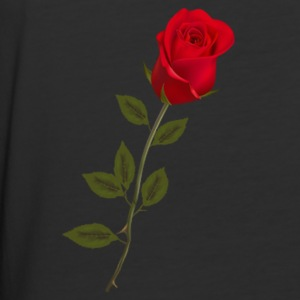 Single Rose 4 - Baseball T-Shirt