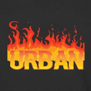 Urban football soccer t-shirt Fire - Baseball T-Shirt