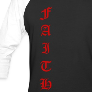 Faith Text - Baseball T-Shirt
