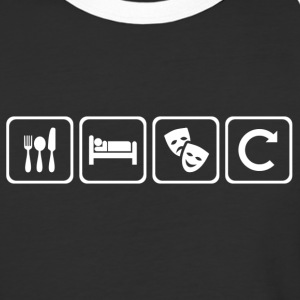 Eat. Sleep. Theatre. Repeat. - Baseball T-Shirt