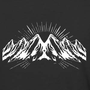 Big white snow mountain - Baseball T-Shirt