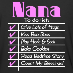 Nana To Do List T Shirt - Baseball T-Shirt