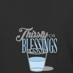 Thirsty For Blessings Graphic Tee - Baseball T-Shirt