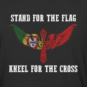 Stand for the flag Portugal kneel for the cross - Baseball T-Shirt