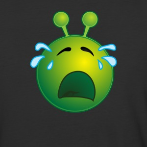 Bestseller Funny Crying Sad Alien Face with Tears - Baseball T-Shirt