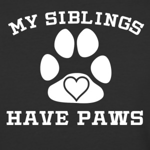 My Siblings Have Paws - Baseball T-Shirt