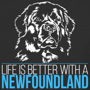 NEWFOUNDLAND Life is better - Baseball T-Shirt