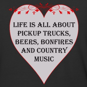 Life is all about Country Music - Baseball T-Shirt