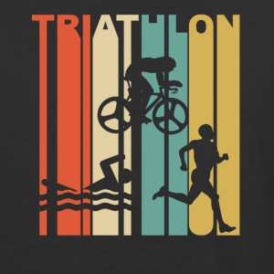 Vintage Triathlon Graphic - Baseball T-Shirt