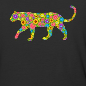 Cougar Flower Tee Shirt - Baseball T-Shirt