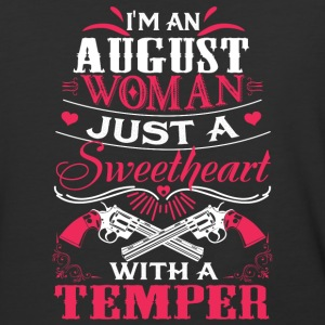 I'm an august woman Just a sweetheart with temper - Baseball T-Shirt