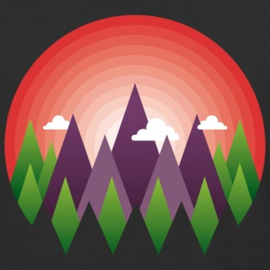 geometric mountain sunrise - Baseball T-Shirt
