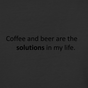 coffee and bear are the solutions in my life - Baseball T-Shirt