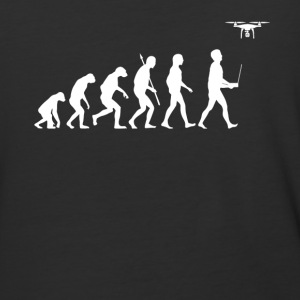 Evolution of Man - Drone Edition - Baseball T-Shirt