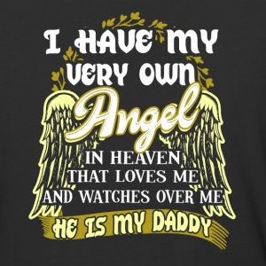 My Daddy Is My Angel Shirt Fathers Day Gift - Baseball T-Shirt