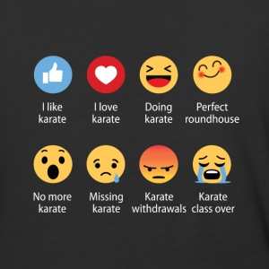 Karate emojication funny - Baseball T-Shirt