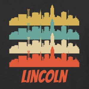Retro Lincoln NE Skyline Pop Art - Baseball T-Shirt