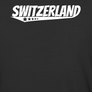 Switzerland Retro Comic Book Style Logo Swiss - Baseball T-Shirt