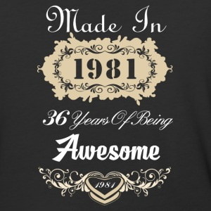 Made in 1981 36 years of being awesome - Baseball T-Shirt