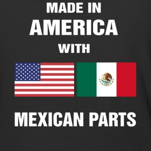 Made in America with Mexican parts shirt - Baseball T-Shirt