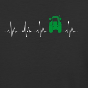 Heartbeat Traktor green - Baseball T-Shirt