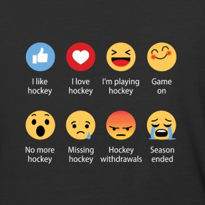 Hockey Emojication Funny - Baseball T-Shirt