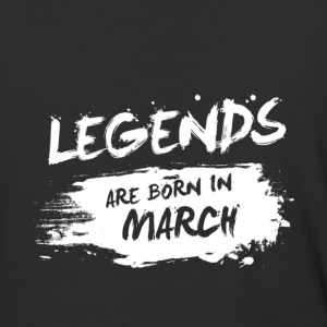 Legends are born in March - Baseball T-Shirt