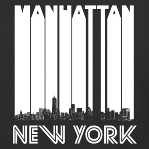 Retro Manhattan New York Skyline - Baseball T-Shirt