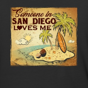 SAN DIEGO LOVES ME ASH GREY SHIRT - Baseball T-Shirt