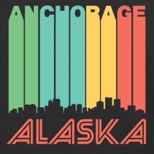 Retro Anchorage Skyline - Baseball T-Shirt