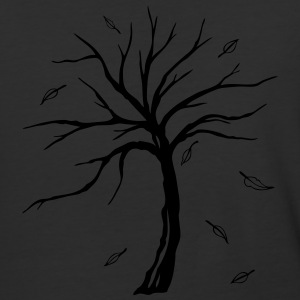 Small tree with falling autumn leaves. - Baseball T-Shirt
