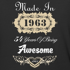 Made in 1963 54 years of being awesome - Baseball T-Shirt