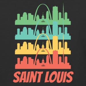 Retro Saint Louis MO Skyline Pop Art - Baseball T-Shirt