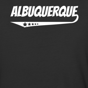Albuquerque Retro Comic Book Style Logo - Baseball T-Shirt
