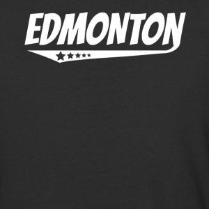 Edmonton Retro Comic Book Style Logo - Baseball T-Shirt