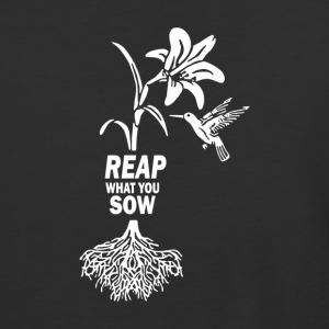 Reap what you sow Flower Hummingbird Heather - Baseball T-Shirt
