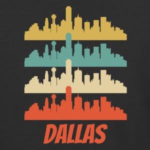 Retro Dallas TX Skyline Pop Art - Baseball T-Shirt