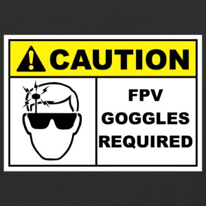 Caution FPV Goggles Required - Baseball T-Shirt