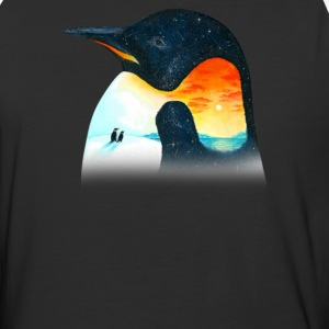 Penguin Sunset - Baseball T-Shirt