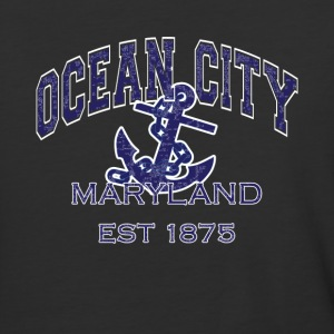 Ocean City Maryland Anchor - Baseball T-Shirt
