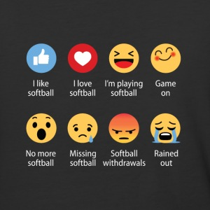Softball emojication funny - Baseball T-Shirt