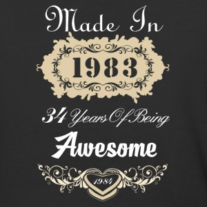 Made in 1983 34 years of being awesome - Baseball T-Shirt
