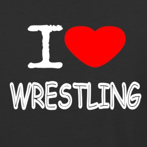 I LOVE WRESTLING - Baseball T-Shirt