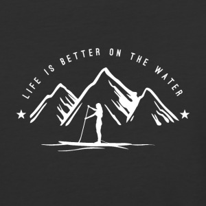 SUP Girl - Life is better on the water *white* - Baseball T-Shirt