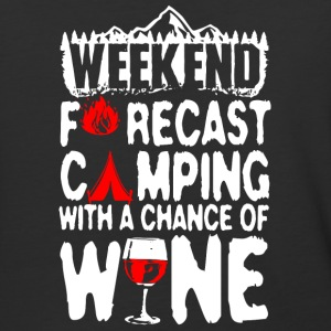 Camping With A Chance Of Wine T Shirt - Baseball T-Shirt