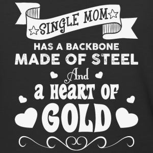 Single Mom Has A Backbone Made T Shirt - Baseball T-Shirt