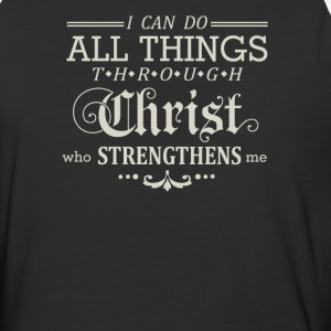 I can do all things through Christ who strengthens - Baseball T-Shirt