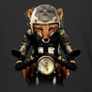 Fox Biker - Baseball T-Shirt